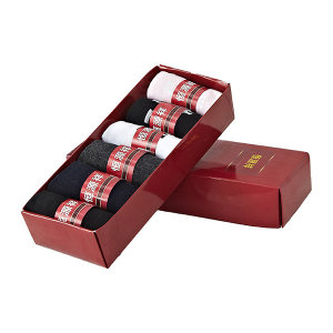 HYX/恒源祥 精梳棉情侣袜礼盒 HYX001WZ 6双 1盒