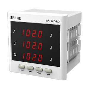SFERE/斯菲尔 三相交流电流表(带变送输出) PA194I-9K4G 倍率3150A/1A 模拟量输出 DC4~20mA 1块