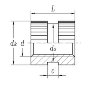 ZKH/震坤行 GB809 嵌装圆螺母 碳钢 发黑 M4×6 A型通孔 1个