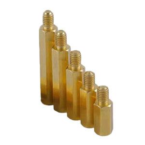 GC/国产 六角单头螺柱 黄铜 本色 M3×15+6 1个