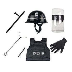 SAFEWARE/安赛瑞 反恐防暴七件套 12690 包含防暴头盔+防暴警棍+反恐防暴钢叉+防割手套+防刺服+反恐防暴盾+狼牙棒 1套