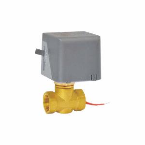 YH/永亨 电动二通阀 AQDF15L2-DN15 黄铜阀体 内螺纹接口 公称压力16bar 220V 0~90℃ 1只