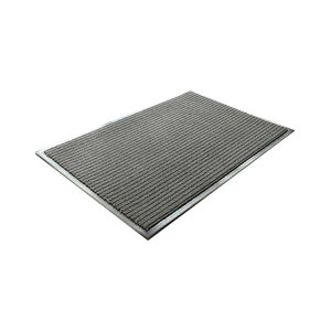KUKE/酷珂 加强型条纹除尘防滑地垫 JT-JM3502 灰色 1.8m×2.5m×8mm 1块
