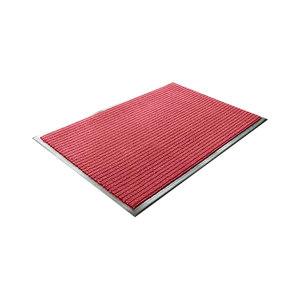 KUKE/酷珂 加强型条纹除尘防滑地垫 JT-JM3501 红色 1.2m×1.5m×8mm 1块