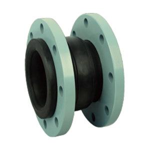 YOMTEY/粤镁特 铸铁法兰单球橡胶挠性接管 KDTF1.6 DN350 长255mm 天然橡胶+丁苯橡胶 1个