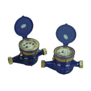 YOMTEY/粤镁特 铁壳丝扣旋翼湿式热水表 LXSR-E DN25 最大允许读数99999 1个