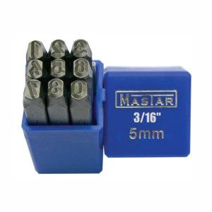 MASTAR 钢印(数字正体9件套) 1205-0690 10mm 数字0~8 1套