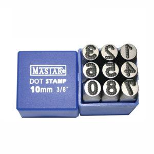 MASTAR 工业级钢印(点字数字正体9件套) 1207-2080 8mm 数字0~8 1套