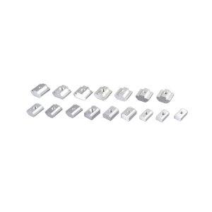 ZKH/震坤行 方螺母 碳钢 镀锌 M8-40 适配国标铝型材用产品 1个