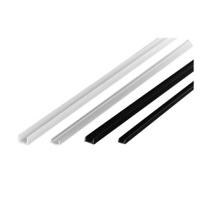 ZKH/震坤行 平封槽条 直径8mm PVC 黑色 可定制成1米每条或2米每条 1米