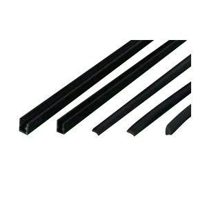 ZKH/震坤行 U型槽条 B10 PVC 黑色 定制 1米