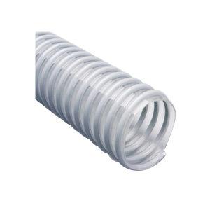 ZIMFLEX/蚱蜢 灰色塑筋加强透明PU软管 921F-127-20 内径127mm 壁厚0.8mm 长20m 0~0.8bar 1卷