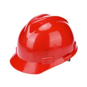 WOSHINE/华信 ABS小金刚V型安全帽 01-01-42CR 红色 一锁键帽衬 PVC吸汗带 Y型下颌带 1顶