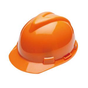 WOSHINE/华信 ABS小金刚V型安全帽 01-01-42CR 桔黄色 一锁键帽衬 PVC吸汗带 Y型下颌带 1顶