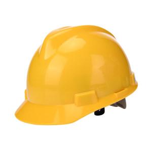WOSHINE/华信 ABS小金刚V型安全帽 01-01-42CR 黄色 一锁键帽衬 PVC吸汗带 Y型下颌带 1顶
