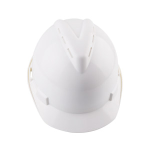 WOSHINE/华信 ABS小金刚V型安全帽 01-01-53CR 白色 带透气孔 一锁键帽衬 PVC吸汗带 Y型下颌带 1顶