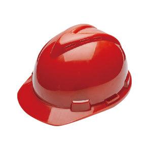 WOSHINE/华信 ABS小金刚V型安全帽 01-01-53CR 红色 带透气孔 一锁键帽衬 PVC吸汗带 Y型下颌带 1顶