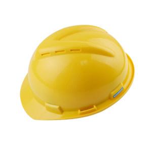 WOSHINE/华信 ABS小金刚V型安全帽 01-01-53CR 黄色 带透气孔 一锁键帽衬 PVC吸汗带 Y型下颌带 1顶