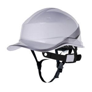 DELTA/代尔塔 DIAMOND5系列ABS绝缘安全帽 102018 白色(BC) 8点式织物内衬 含下颏带 1顶