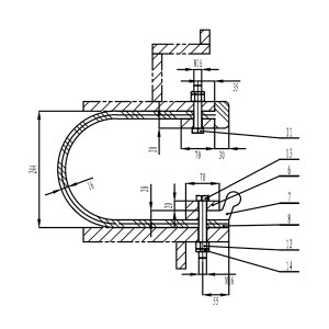 ZG/章光牌 L型水封 密封框专用 含现场安装技术服务和胶料及成型后第三方检验报告 定制 1套