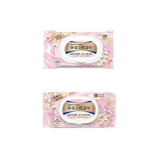 WHISPER/护舒宝 奢柔女性湿巾16片+奢柔女性湿巾40片 卫生湿巾两件套 1套