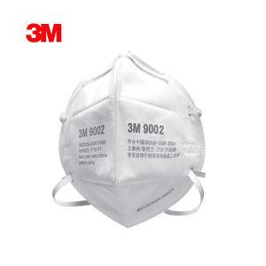 3M 9000系列折叠式防颗粒物口罩 9002 KN90 头戴式 1包