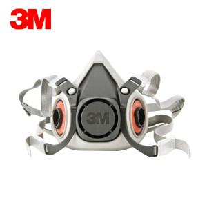 3M 6000系列呼吸防护半面具 6100 小号 1个