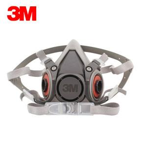 3M 6000系列呼吸防护半面具 6200 中号 1个