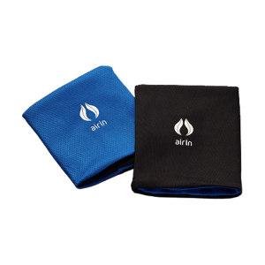 AIRIN/空因 科技冷感运动护腕 AU201PE8000101 海蓝色/墨黑色 10×9cm 烫银 1对