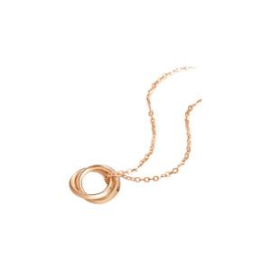 CHOWSANGSANG/周生生 薄荷系列双圆环项链 91873N-18KR-00 47cm 1条