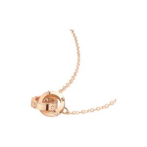 CHOWSANGSANG/周生生 薄荷系列小圆珠双环项链 91979N-18KR-00 47cm 1条