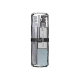 E-TRAVEL/易旅 晶钻洗漱杯套装 5件套 20.5×7.2cm 灰色 1套