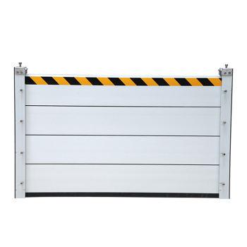 JINANXING/锦安行 铝合金防汛挡水板套装 JCH-FXB-D02 立柱×2 高约20cm挡水板×3 铝合金板材厚2mm 安装后总长约200cm 安装后总高约60cm 1套