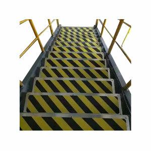ECOBOOTHS/爱柯部落 不锈钢金刚砂楼梯防滑垫 110401 黄黑警示纹 20×100cm 1米