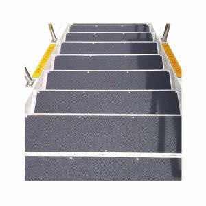ECOBOOTHS/爱柯部落 不锈钢金刚砂楼梯防滑垫 110402 纯黑色 25×100cm 1米