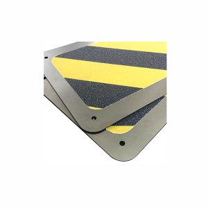 ECOBOOTHS/爱柯部落 不锈钢金刚砂楼梯防滑垫 110403 黄黑警示纹 20×100cm 1米