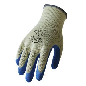 INXS/赛立特 涤棉乳胶涂掌工作手套 L22110 9码 蓝色 1打