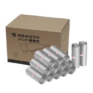 H SELECTION/震坤行家精选 高性能垃圾袋 ZKH001 45×50cm 单面1丝厚 品质灰 30只×36卷 (平口式)量贩装 1箱