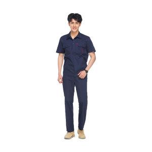 AUGER/蓝装 夏装短袖衣裤套装 19ZMA021 165码 藏蓝色 1套