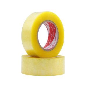JINGHUA/晶华 BOPP封箱胶带 黄透封箱胶带 透明黄 52μm×60mm×150m 18卷 1箱
