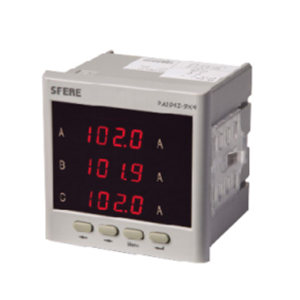 SFERE/斯菲尔 单相交流电流表 PA194I-4X1 0~5A 开孔尺寸116×56mm 1台