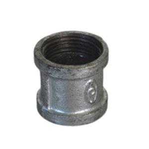 K&F/卡耐夫 玛钢直通 DN15 60g 不镀锌 灰色 1个
