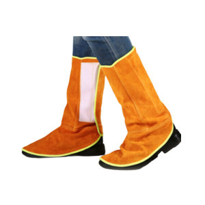 JIAHU/佳护 牛皮电焊护脚罩 JD0012 普通魔术贴高度38cm 1双