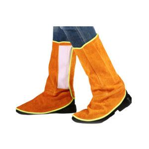 JIAHU/佳护 牛皮电焊护脚罩 JD0012 加宽魔术贴高度38cm 1双
