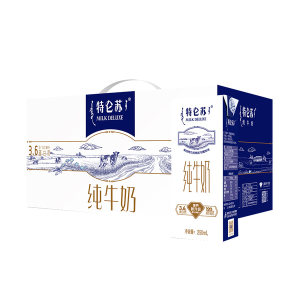 MENGNIU/蒙牛 特仑苏纯牛奶苗条装 6923644266318 250mL×12盒 1箱