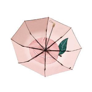 BANANAUNDER/蕉下 20双层小黑伞果趣系列三折伞(桃子) 4897051965497 1把