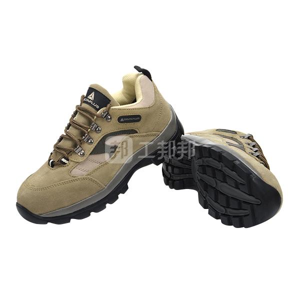 DELTA/代尔塔 PERTUIS户外系列低帮翻毛皮安全鞋 301305 41码 米色 防砸防静电防刺穿 橡胶大底 1双