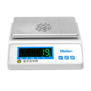 MEILEN/美乐 电子天平 MTB600D 量程600g 精度0.01g 方盘B 配砝码 1台