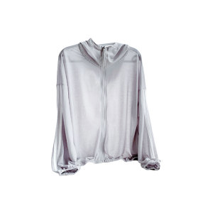 QINGHUA/轻画 艾草防蚊防晒衣 DL2068011 银灰色 M码 1件