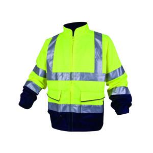 DELTA/代尔塔 反光棉涤混纺夹克 404012 M 黄色+藏青色(JM) 1件